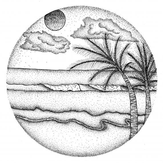 beach landscape drawing at getdrawings com free for personal use
