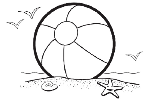 600x400 Beach Ball Coloring Page Online 58 On