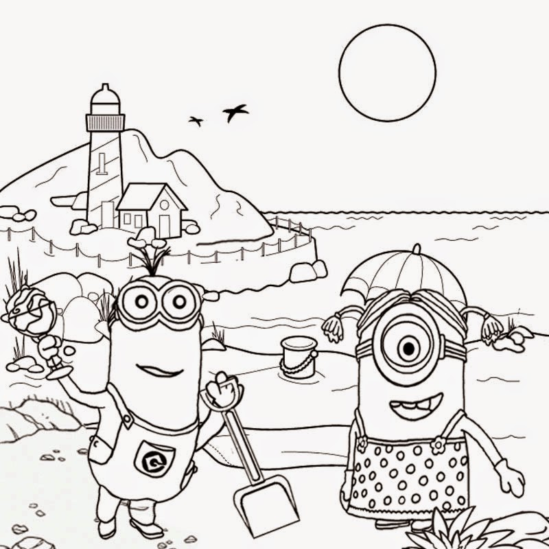 800x800 Free clipart drawing for teens seaside holiday fun coloring