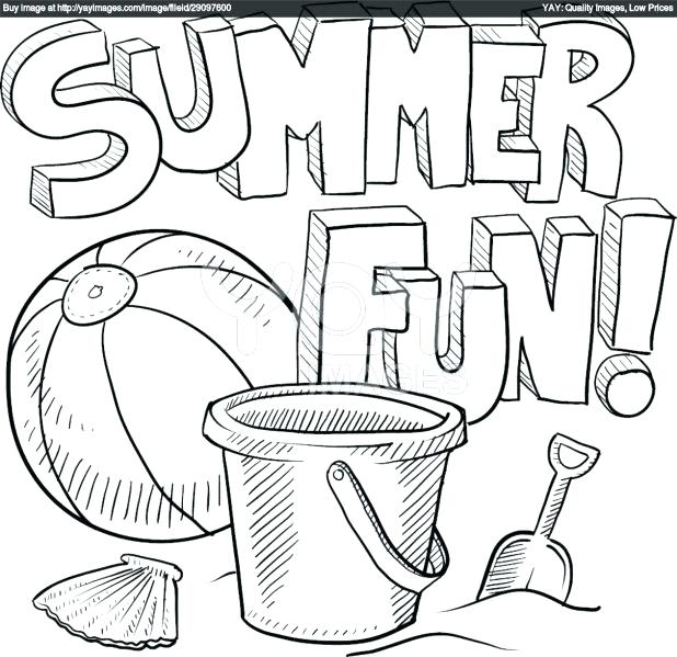 618x599 Fresh Beach Coloring Pages For 41 Summer Beach Scene Coloring
