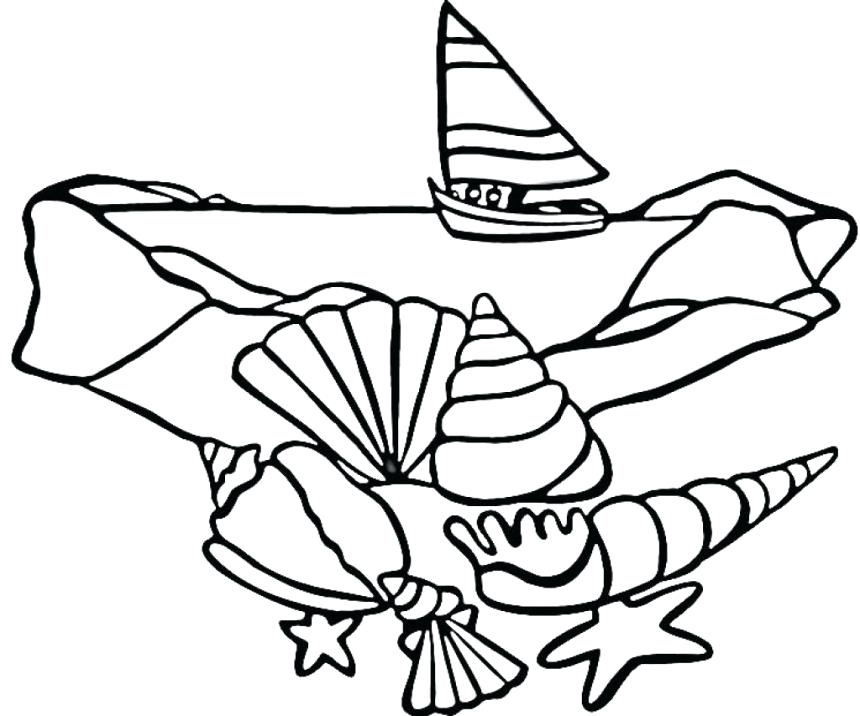 860x716 Shell Coloring Pages Animal Coloring Seashell Coloring Pages More