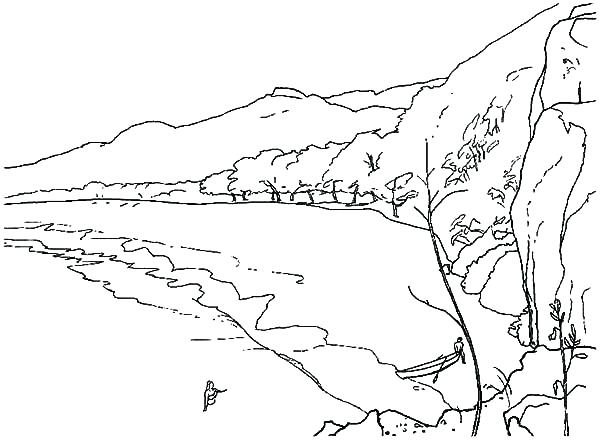 600x440 Beach Coloring Page Landscapes With Lighthouse