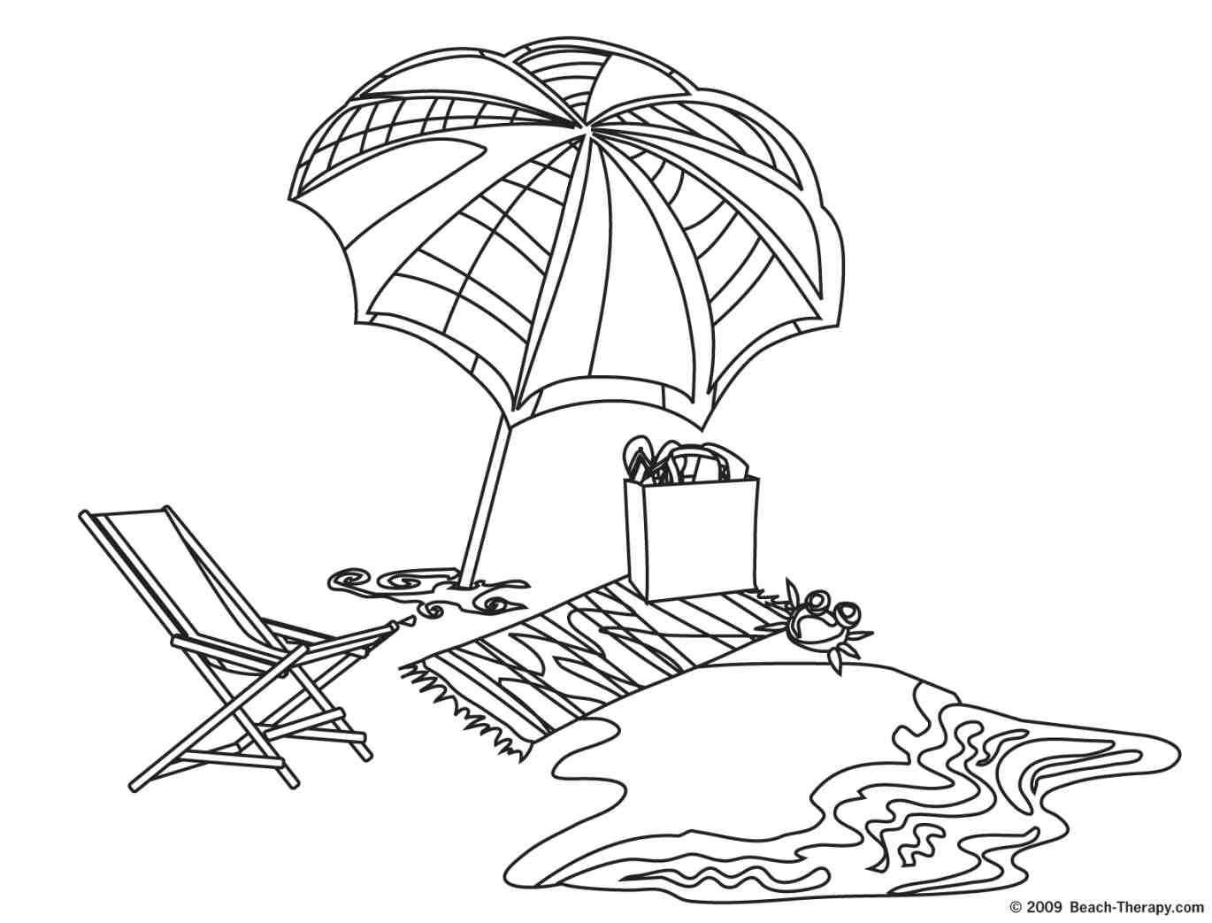 1370x1043 Beach Drawings Beach Coloring Pages 8 Beach Coloring Pages