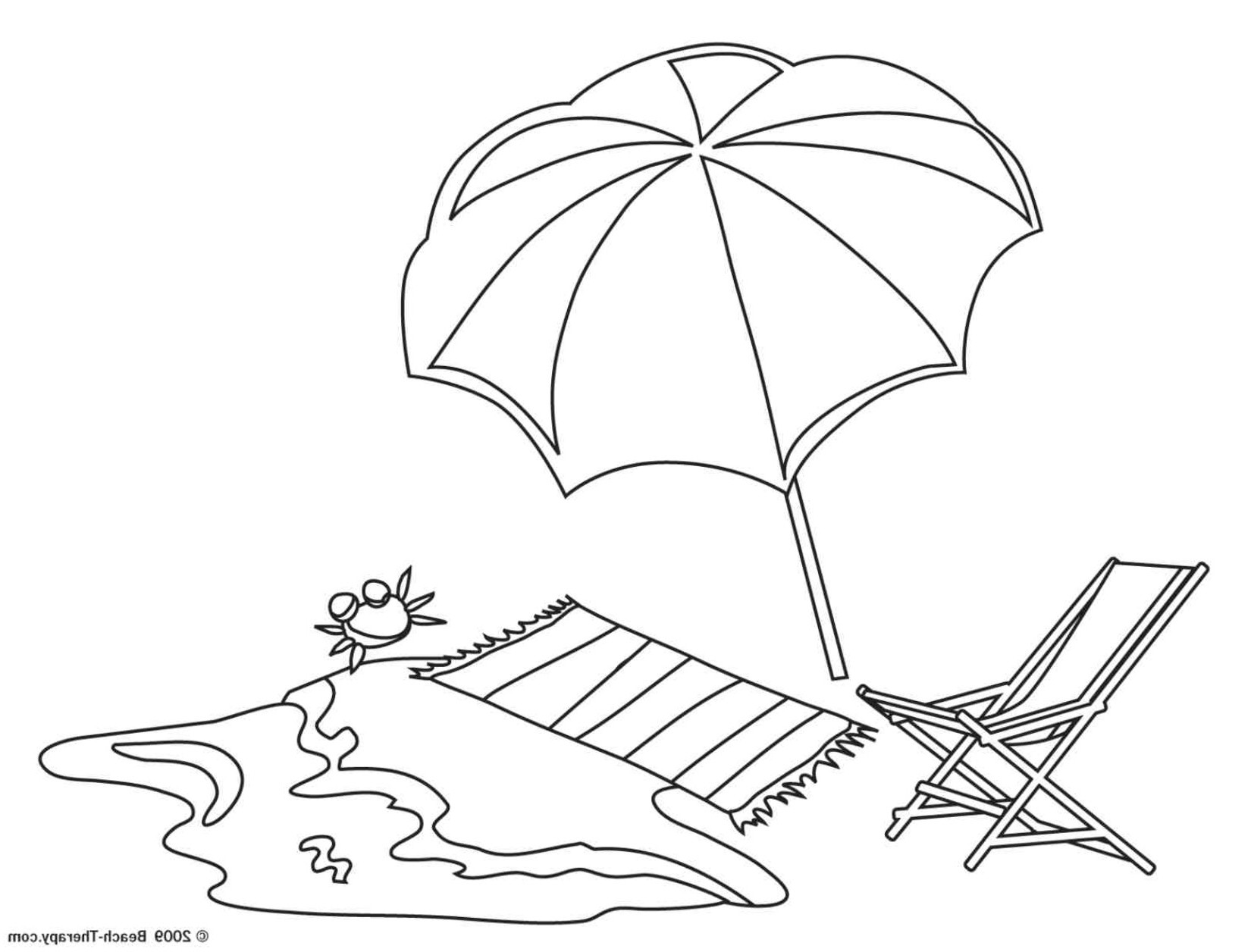 Coloring Pages Beach Umbrella - Bltidm