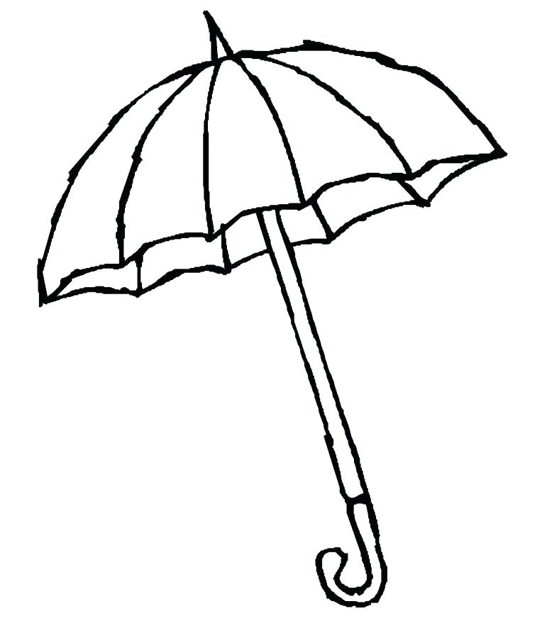 how to draw beach umbrella