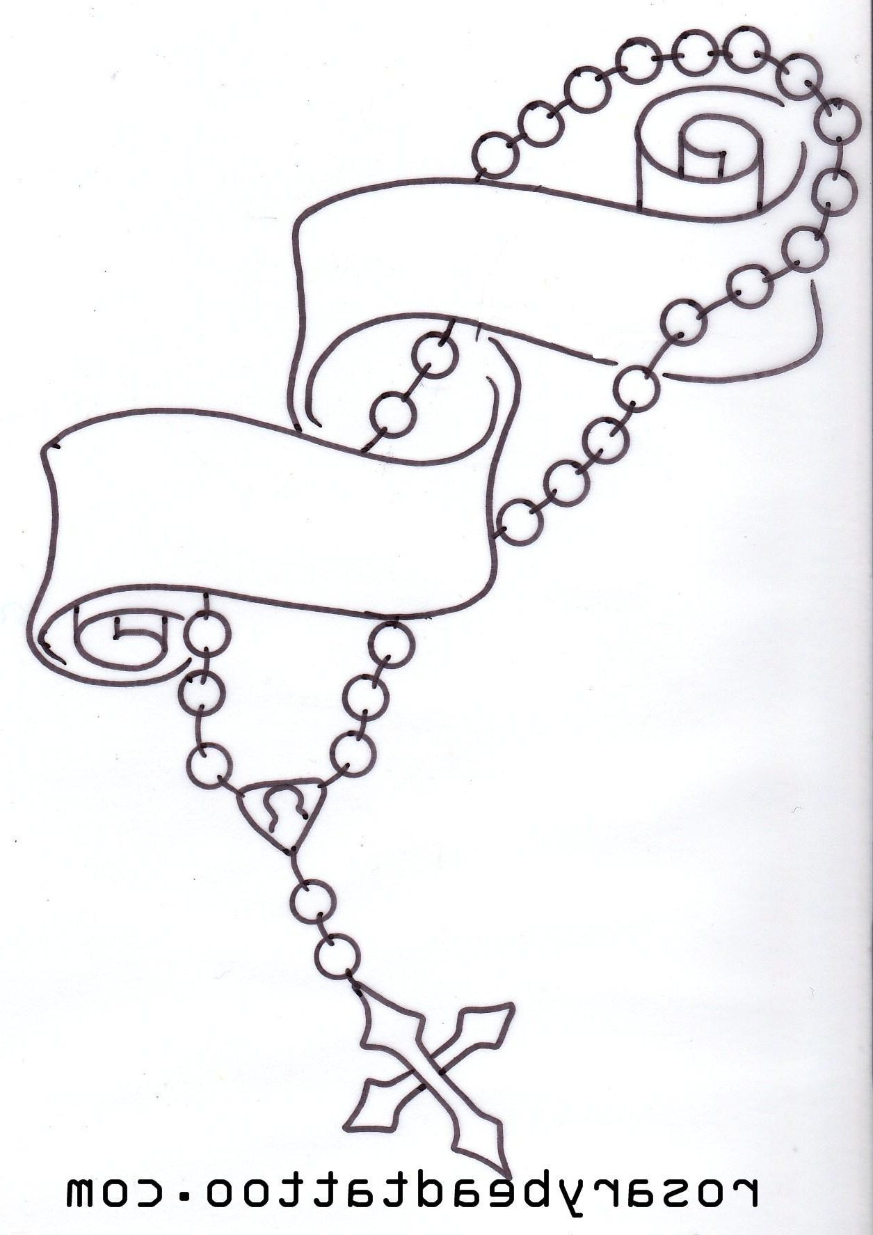 1255x1774 Rosary Beads Tattoo Drawing Praying Hands With Rosary Beads Tattoo