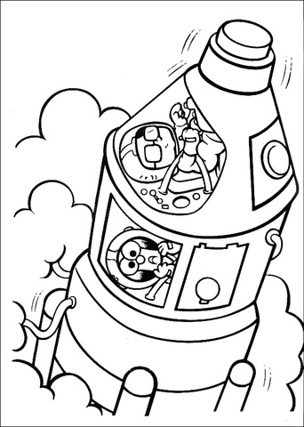 342x480 Muppet Babies Space Mission Coloring Page Free Printable