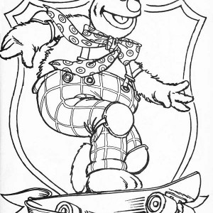 300x300 Muppets Fozzie Bear Coloring Pages Awesome