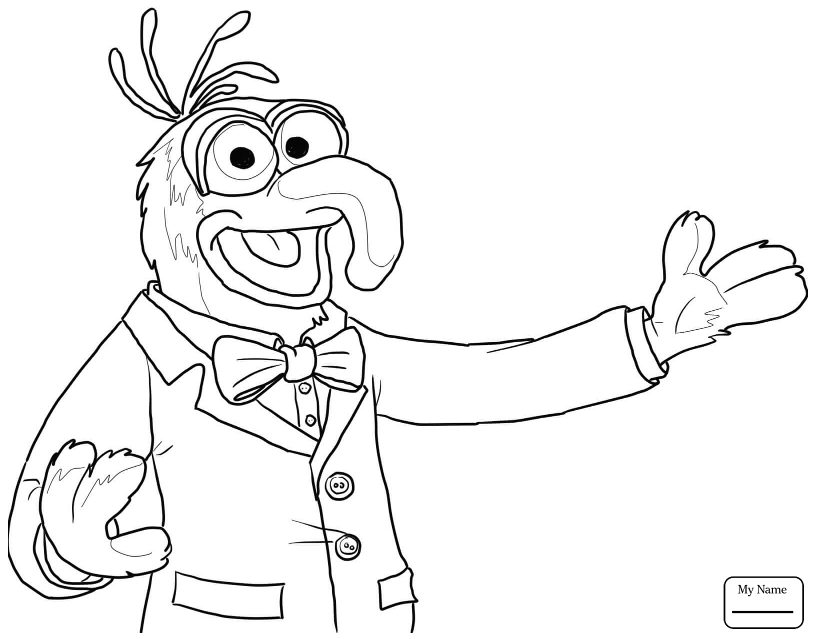 1632x1279 Coloring Pages For Kids Cartoons Beaker And Bunsen Honeydew