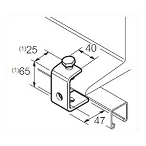 300x300 Swifts Channel Support Beam Clamp Hot Dip Galvanised Steel