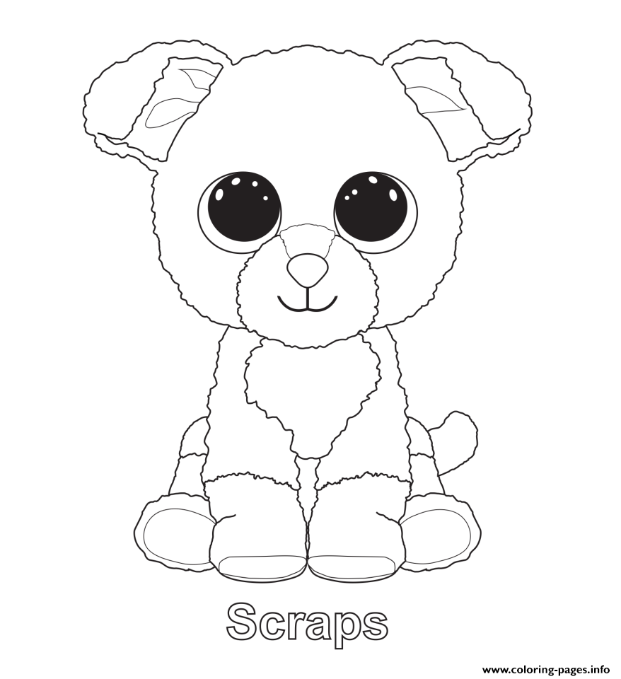 878x960 Cute Cat Beanie Boo Coloring Pages To Print Beanie Boo Poodle