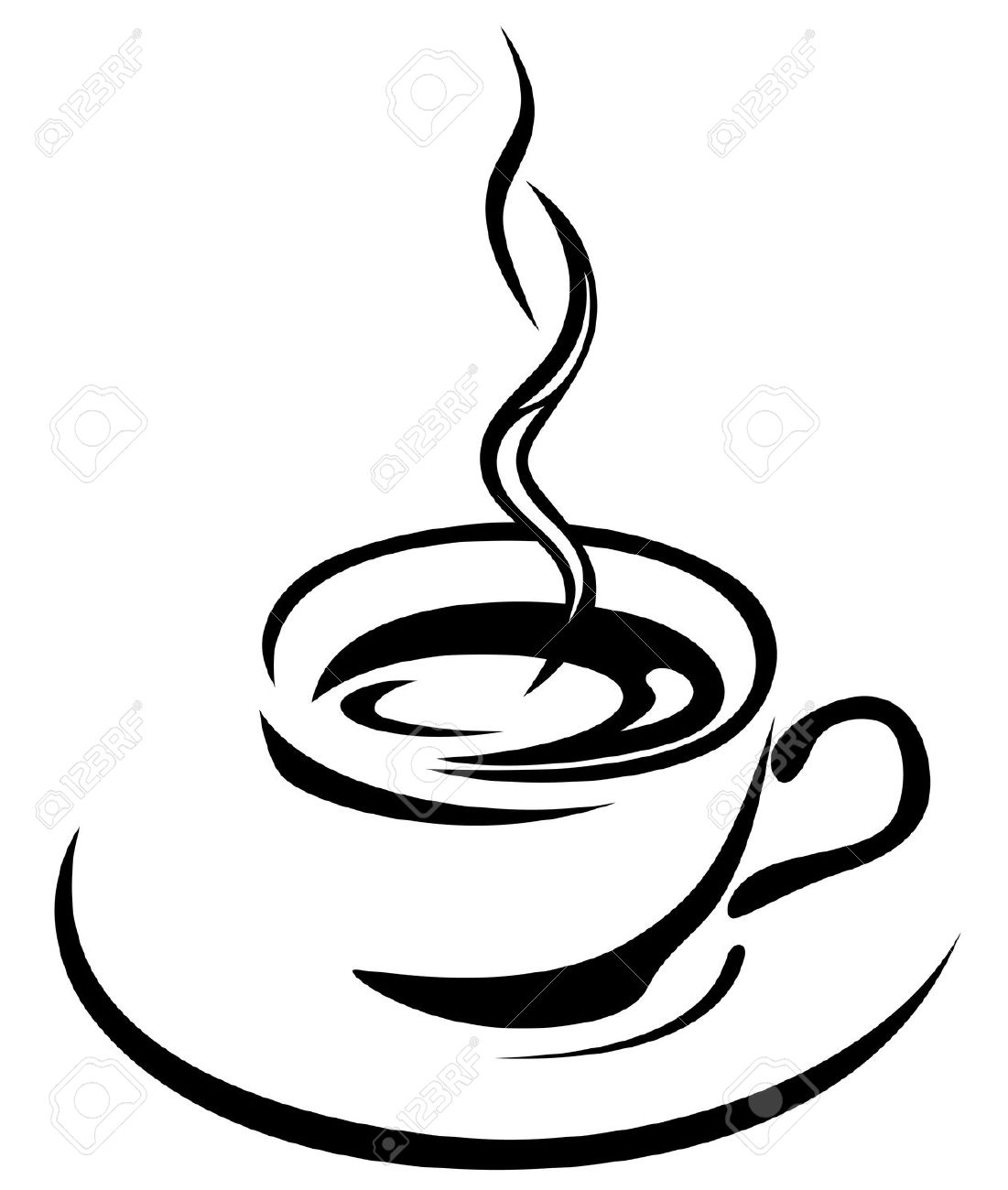 1101x1300 Cup Of Coffee Drawing Steaming Cup Coffee Coffee Beans Drawing