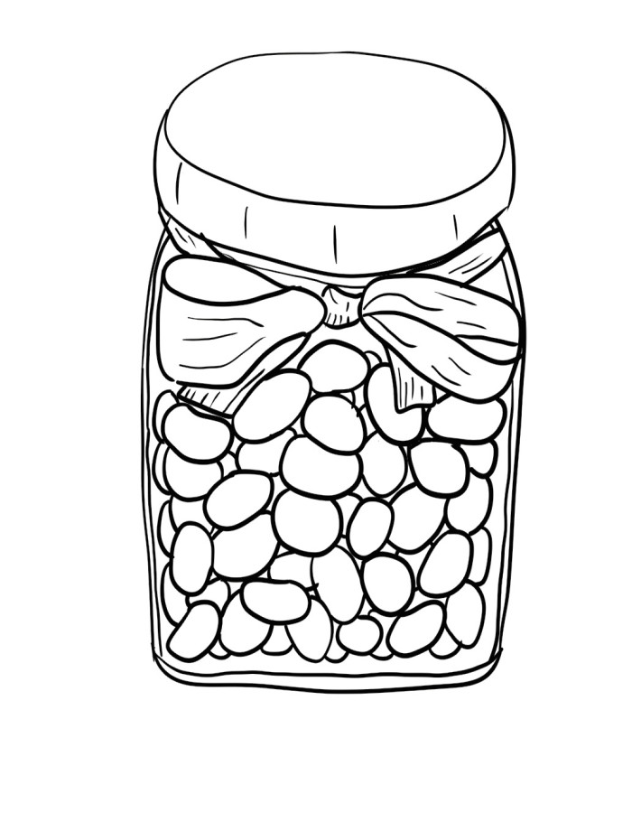 700x910 Jar Of Jelly Beans Coloring Pages
