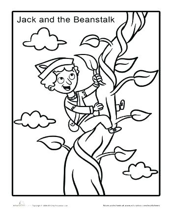 350x440 Jack And The Beanstalk Coloring Pages Jack And The Beanstalk Giant