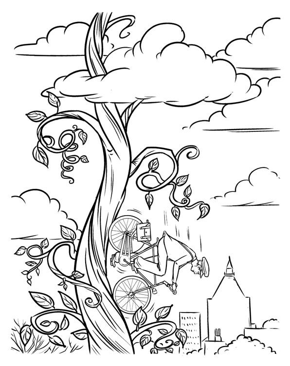 596x752 Laura Trinder Illustration Beanstalk