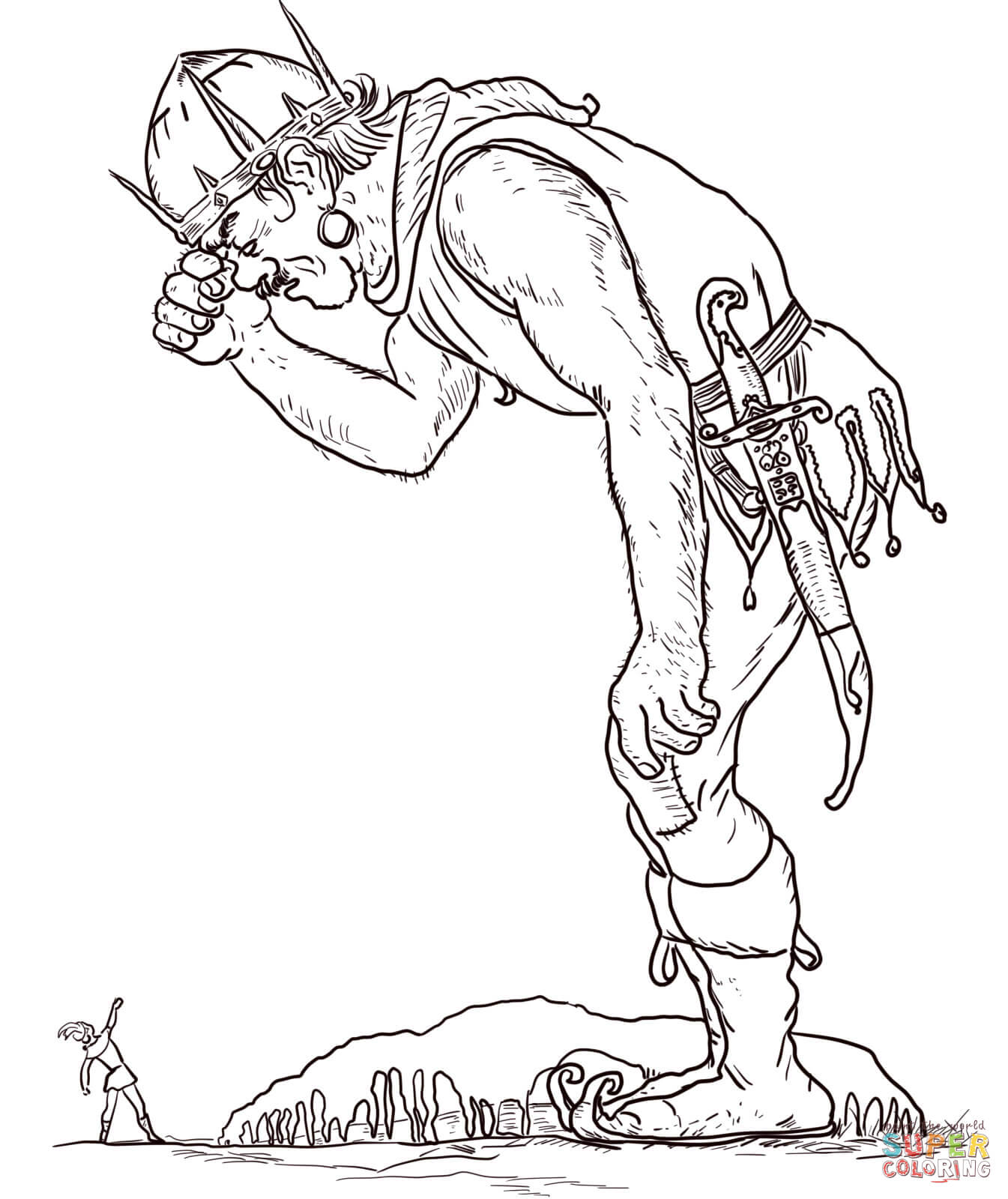 1345x1600 The Giant And Jack Coloring Page Free Printable Coloring Pages