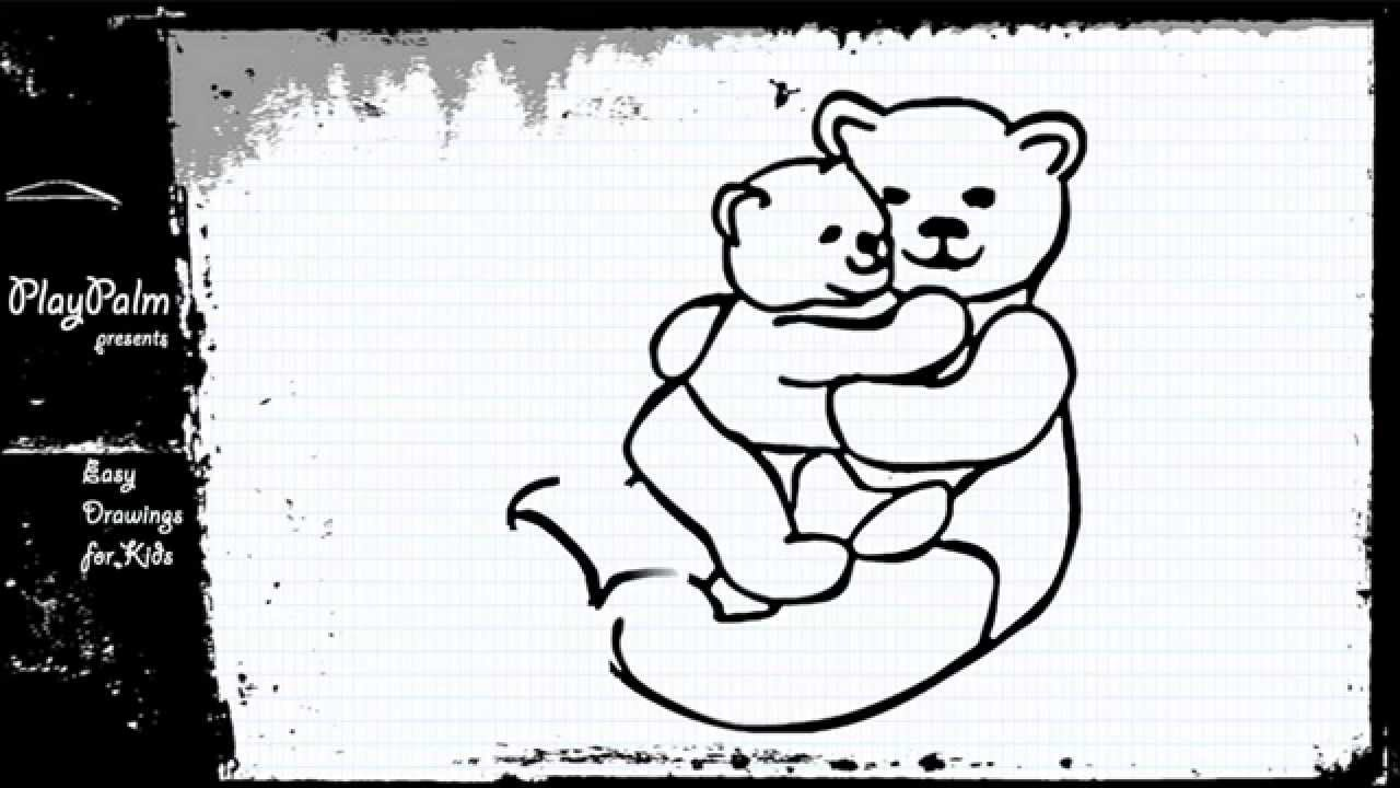 1280x720 How To Draw Bear And His Cub