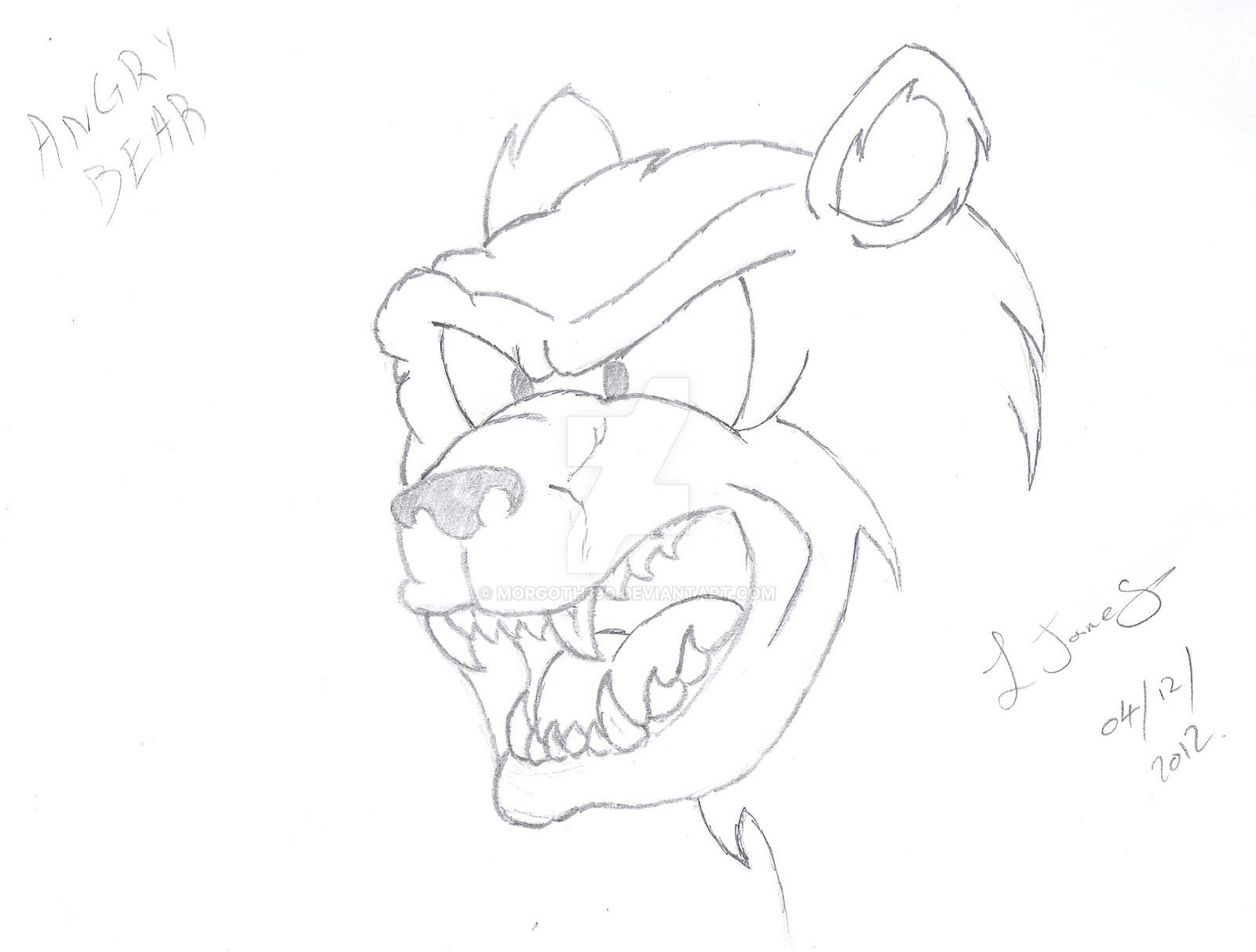 1600x1213 Cartoon Angry Bear By Morgoth390
