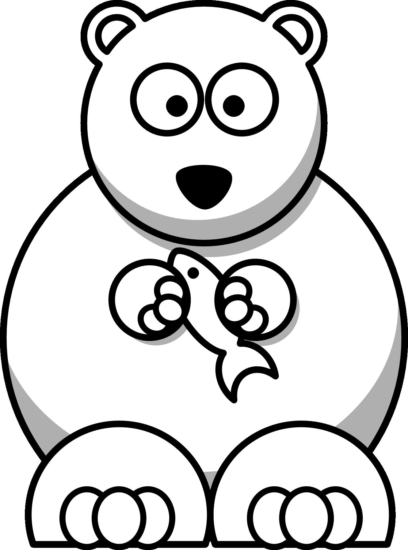 1331x1797 Cartoon Polar Bear Coloring Pages Cincess Polar