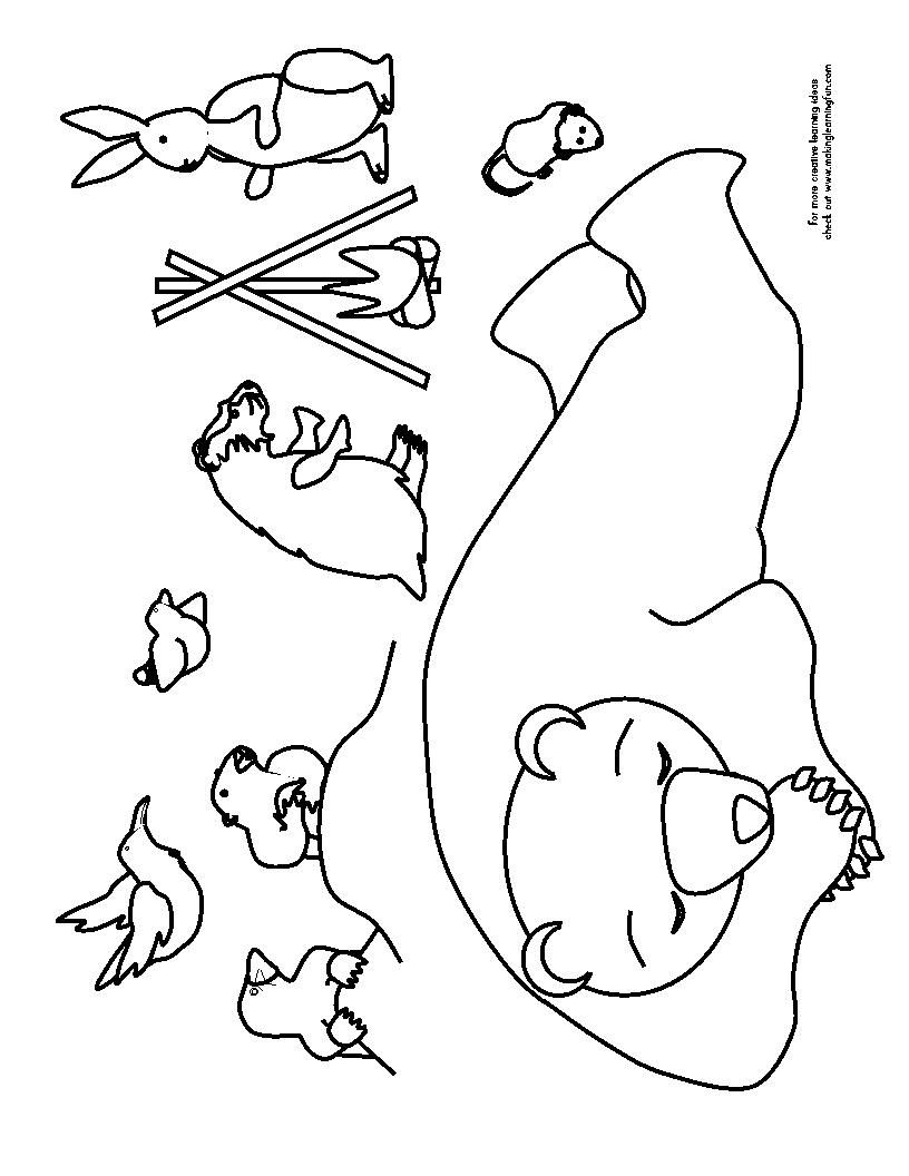 816x1056 Coloring Page Bear Cave Coloring Sheets