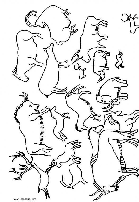 586x850 Printable Cave Paintings