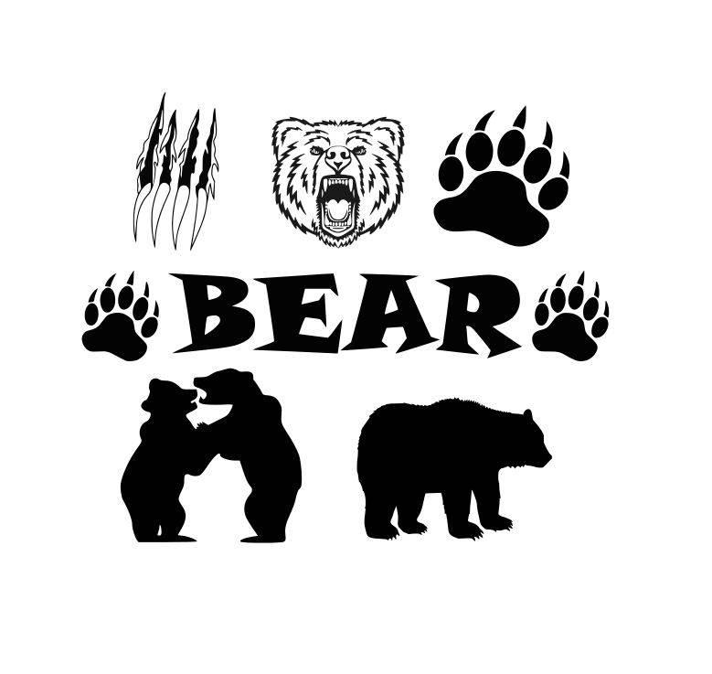 779x737 Bear Cut Files Bear Claw Cut Files Bear Paw Cut Files Bear