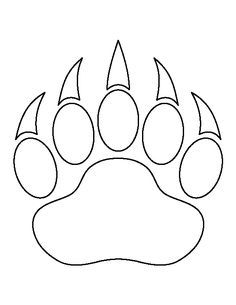 236x305 Bear Paw Print Pattern. Use The Printable Outline For Crafts