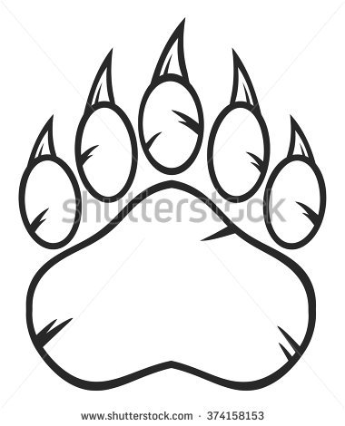 380x470 Realistic Bear Claw Drawings 27 For Your Animations With Bear Claw