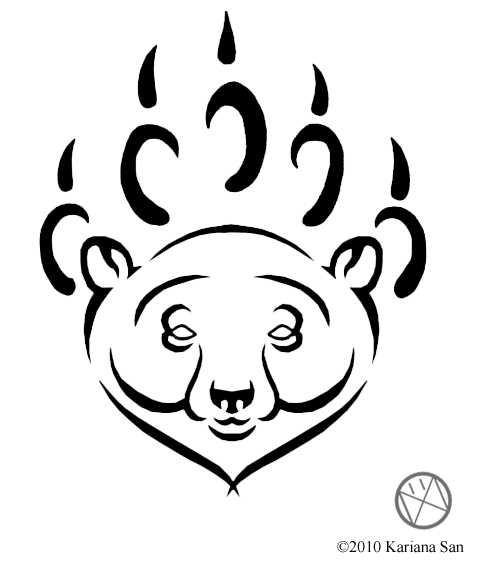 479x570 Tribal Polar Bear Tattoo. Will Probrably Get If A Very Special