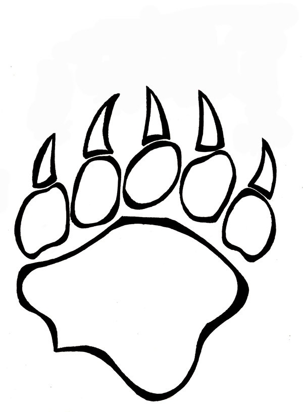 600x816 Bear Paw Coloring Page Coloring Pages Bear Paws