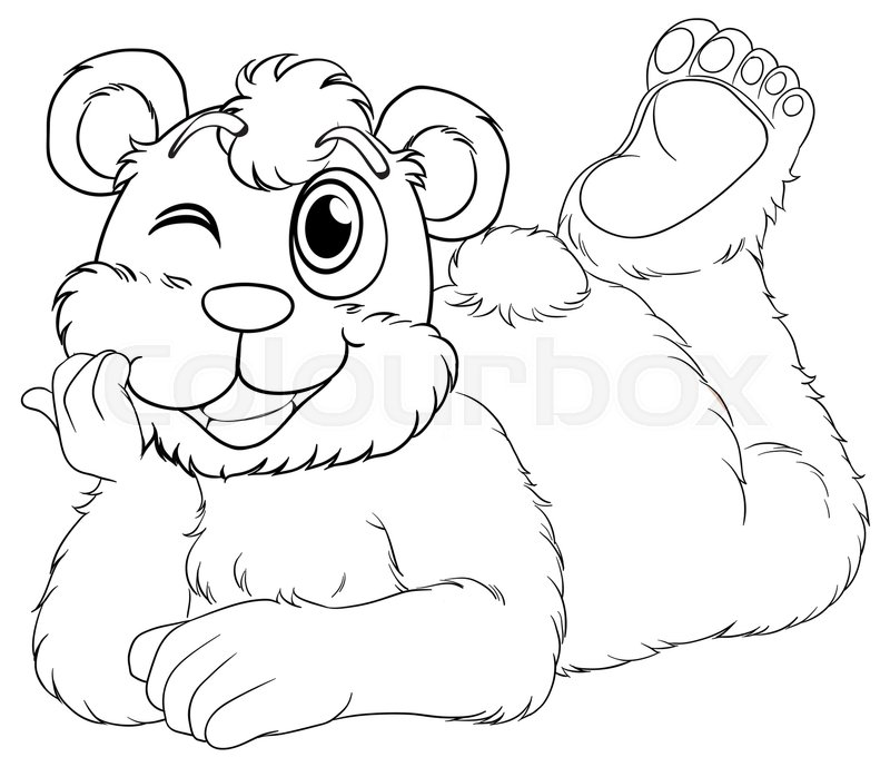 800x689 Doodle Animal For Bear Cub Illustration Stock Vector Colourbox