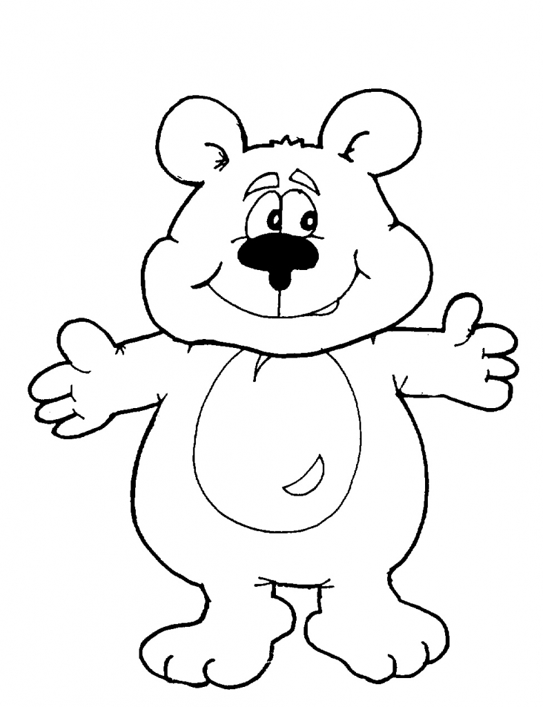 787x1024 Cartoon Bear Drawings Draw A Bear Cub