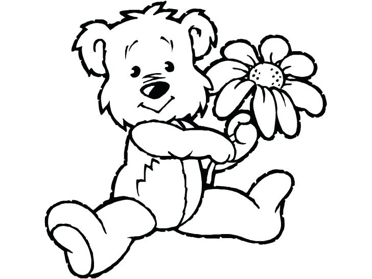 728x546 Cute Teddy Bear Coloring Pages Bears On Smokey Bear Coloring Book