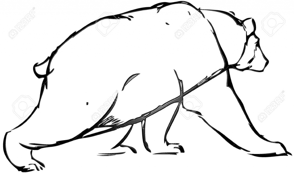 1024x601 Simple Bear Drawing Simple Drawing Of A Bear With Vector Effect