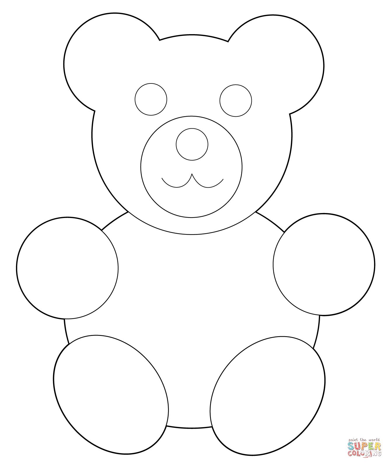 1330x1590 Simple Drawing Of A Teddy Bear