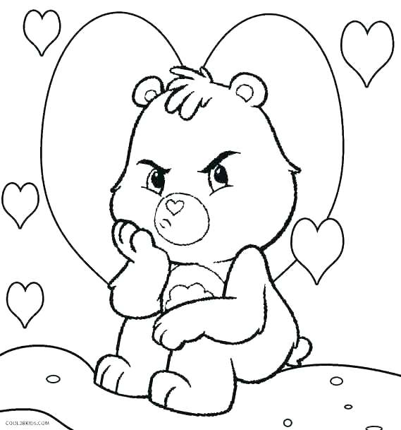 569x609 Black Bear Coloring Page Bear Face Coloring Page Care Bear