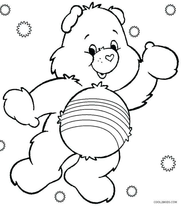 636x720 Bears Coloring Pages Coloring Page Of A Bear Care Bears Coloring