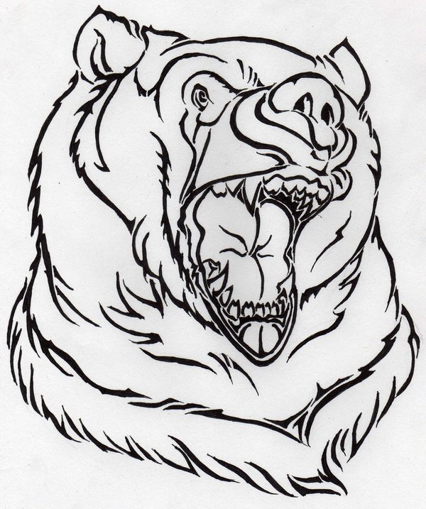 600x717 Bears Head By Nursejuggernaut