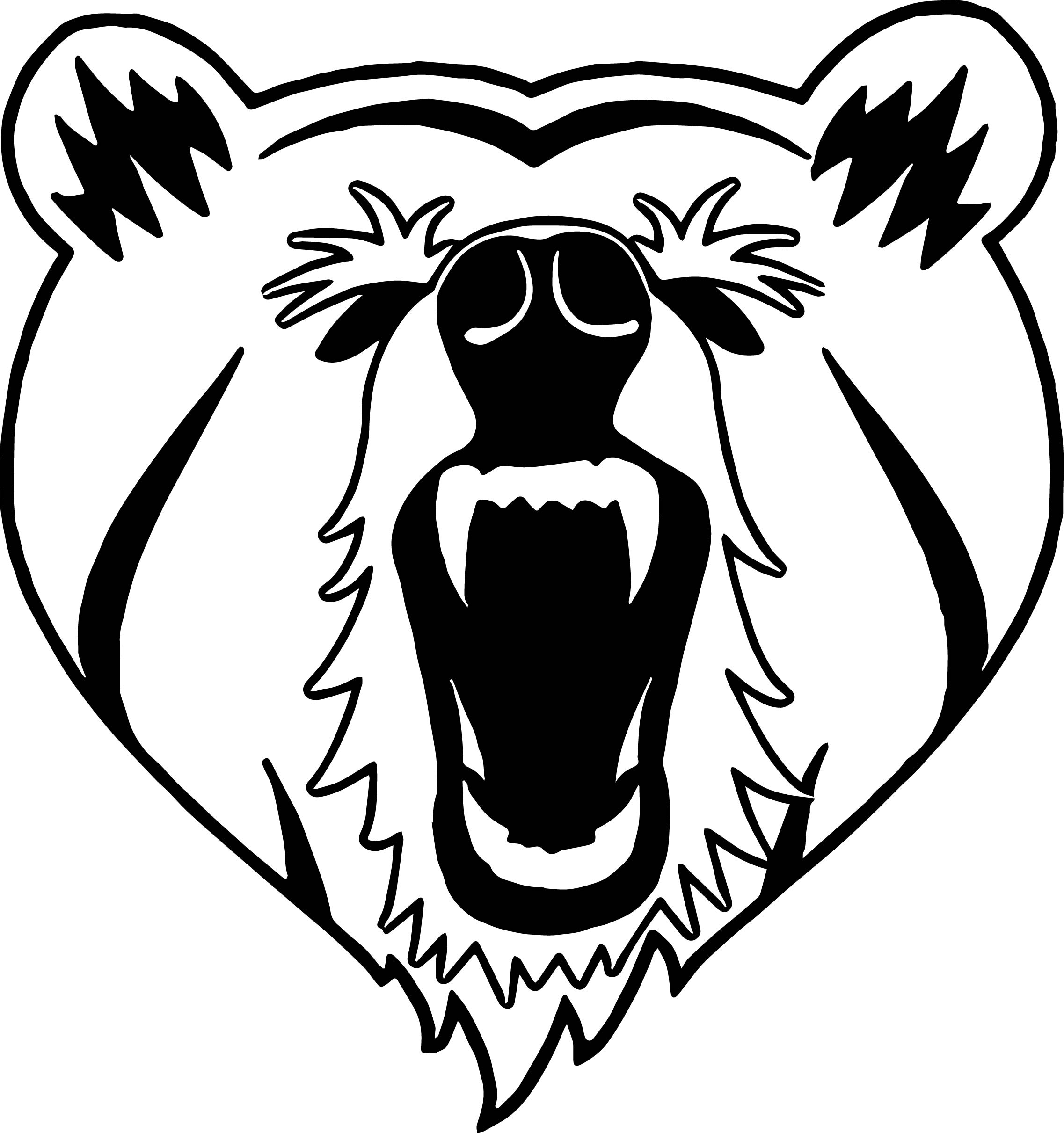 2274x2422 Heart Bear Face Yell Front View Coloring Page Wecoloringpage