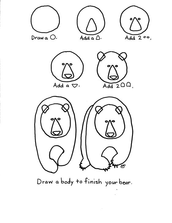 563x729 How To Draw A Kodiak How To Draw A Bear Representation