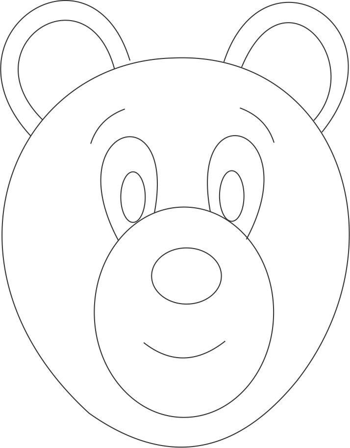 714x912 Bear Face Coloring Page Ebestbuyvn.co