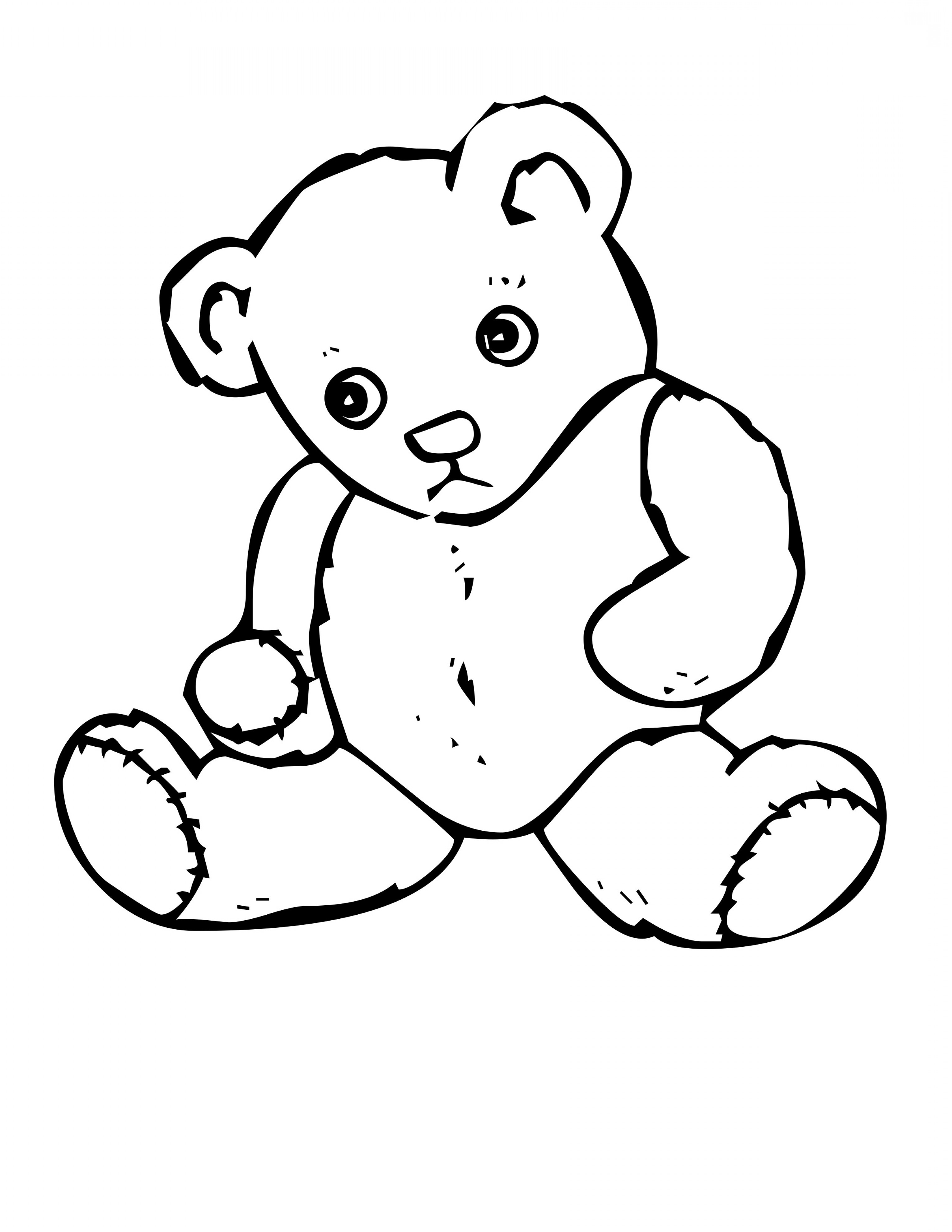 Line Drawing Teddy Bear : Bear line drawing at getdrawings free for personal