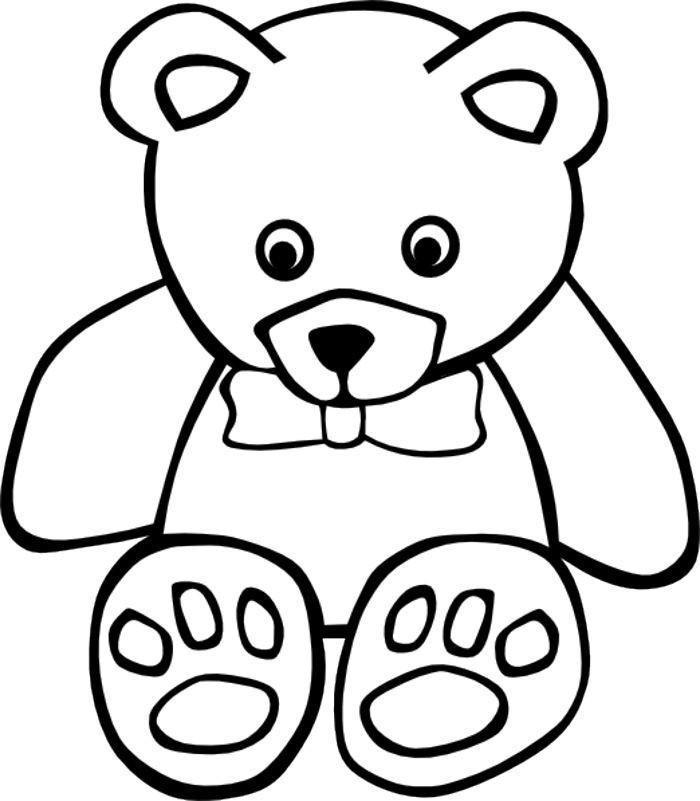 700x801 Teddy Bear Outline