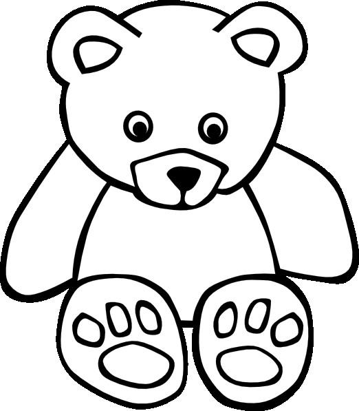 522x597 Teddy Bear Outline