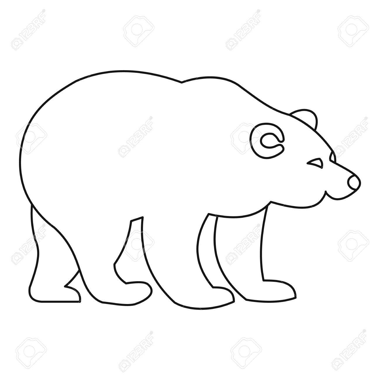 1300x1300 Bear Icon. Outline Illustration Of Bear Vector Icon For Web