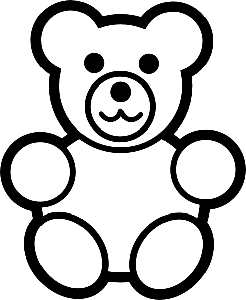 486x593 The Top 5 Best Blogs On Teddy Bear Outline To Colour