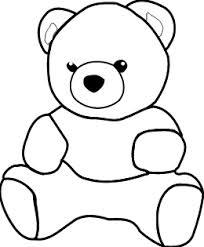 204x247 Outline Drawing Teddy Bear