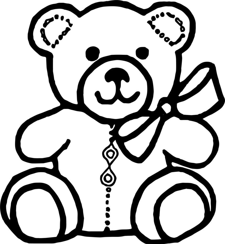 943x1024 Bear Outline