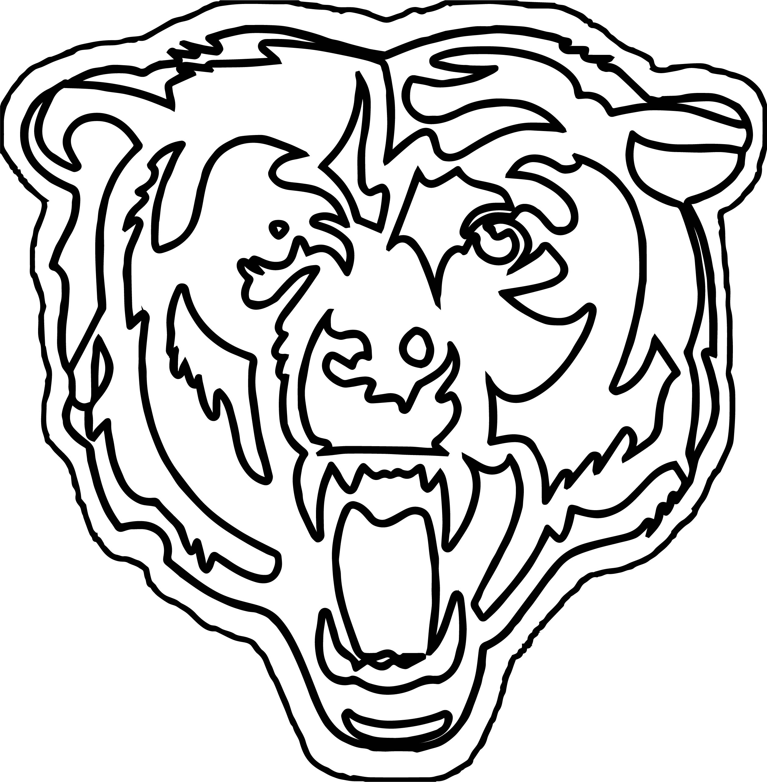 2517x2566 Bear Outline Coloring Pages Wecoloringpage