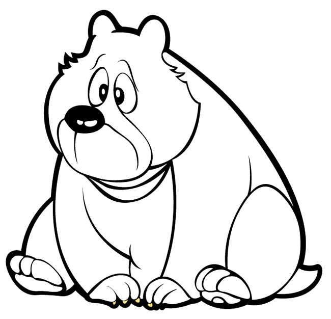 650x626 Bear Template
